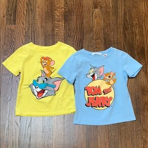 H&M Tom and Jerry Boys T-Shirts 4-6 YRS